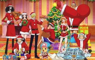 One Piece Noël Wallpaper